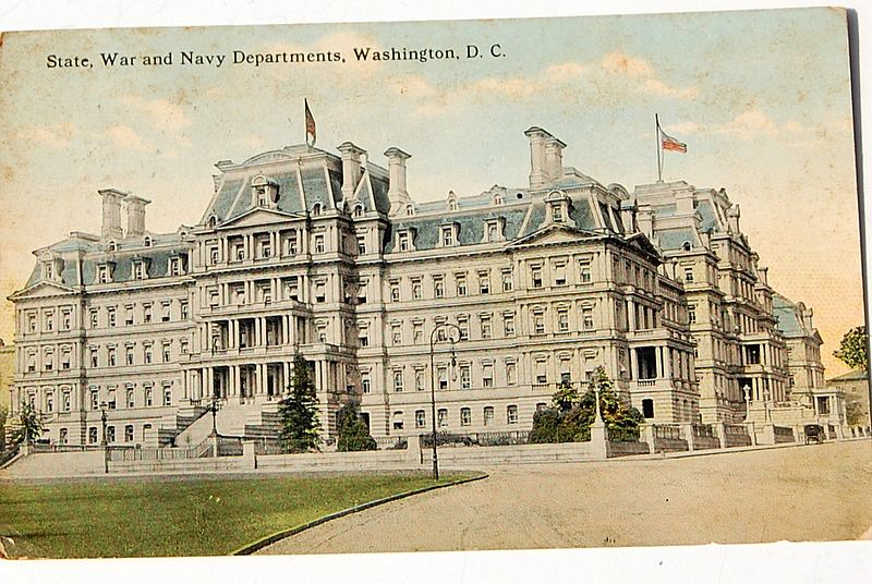 Vintage State War And Navy Departments Washington D. C. Postcard