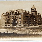 State Normal School Plattsburg New York Postcard