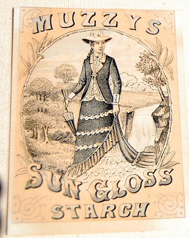 Muzzys Sun Gloss Starch Trade Card