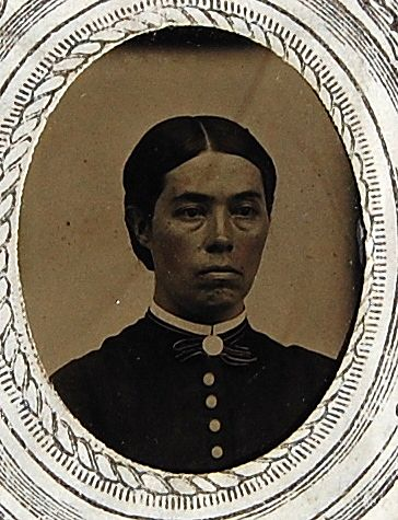 Antique Victorian Tin Type Young Woman