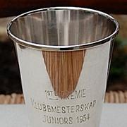 Vintage 1954 Silver Plate Trophy