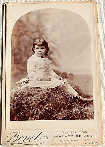 Victorian Real Photo Cabinet Card Beautiful Child San Francisco