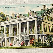 Vintage Postcard The Longfellow House Pascagoula Mississippi