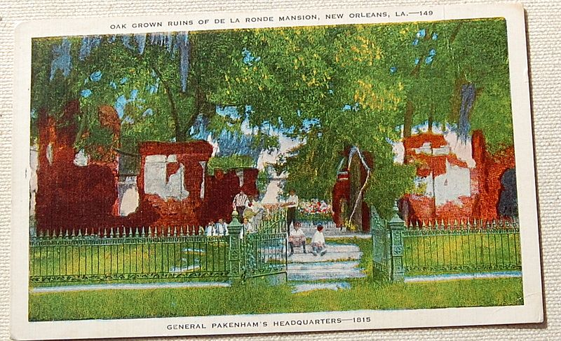 Vintage Linen Postcard General Pakenham's Headquarters