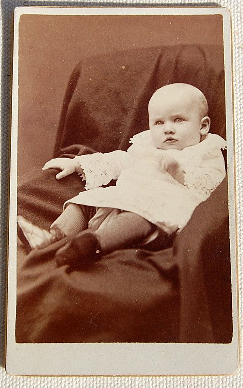 Victorian Antique Cabinet Photo Baby
