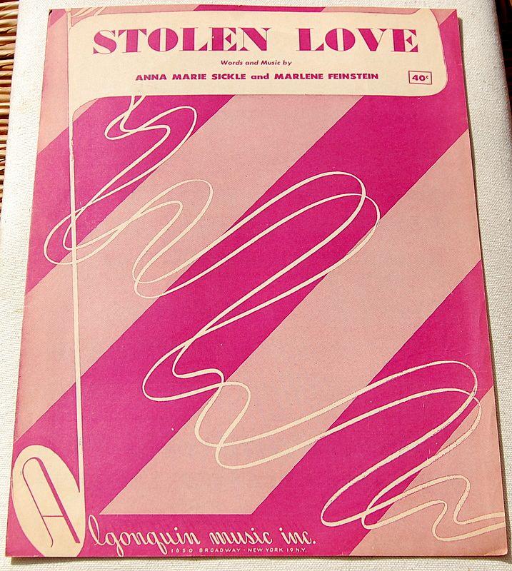 "1951 Vintage Sheet Music ""Stolen Love"""
