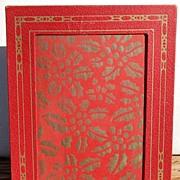 Vintage Red & Gold Picture Frame