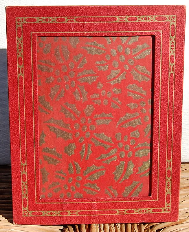 Vintage Red & Gold Picture Frame