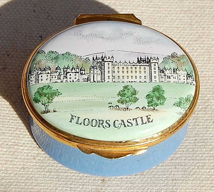 Vintage English Crummles Hand Decorated Battersea Enamelled Box
