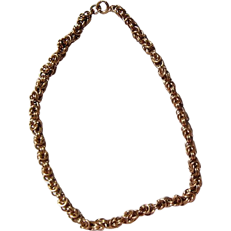 Vintage Gold Filled Fancy Link Chunky Chain Necklace