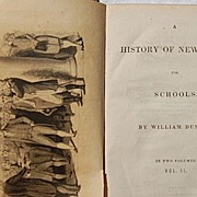 1837 A History Of New York For Schools William Dunlap Vol. I & II