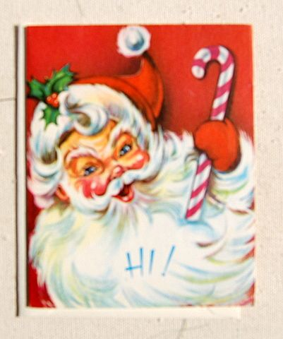 Vintage Santa Claus Merry Christmas Happy New Year Card