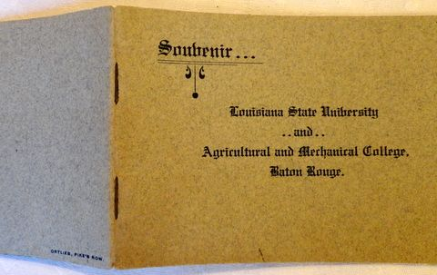Vintage Soubenir Booklet Louisiana State University & Agricultural & Mechanical College Baton Rouge