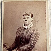 Vintage Cabinet Photo Card Young Lady