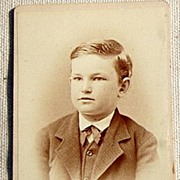 Vintage Cabinet Photo Card Handsome Young Boy