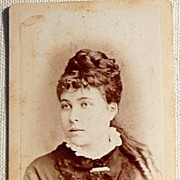 Victorian Antique Cabinet Photo Young Lady Lowell Mass