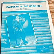 "1950's Vintage Sheet Music ""Mandolins In The Moonlight"" Perry Como"