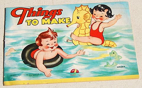 "1953 Children's ""Things To Make"" Book"