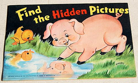 "1953 Children's ""Find The Hidden Pictures"" Book"