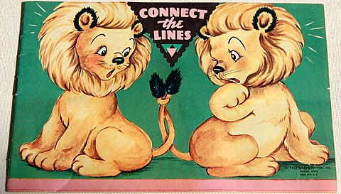 "1953 Children's ""Correct The Lines"" Book"