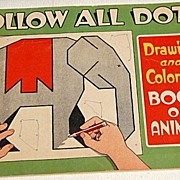 1940 Follow All Dots Drawing & Coloring Book Of Animals