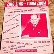 "Vintage Sheet Music ""Zing Zing - Zoom Zoom"""