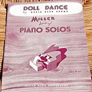 "1926 Vintage Sheet Music Miller Series ""Doll Dance"" By Nacio Herb Brown"