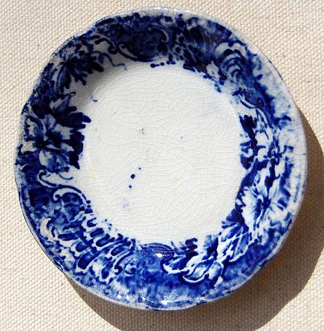 Victorian Flo Blue Butter Pat