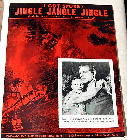 "1942 Vintage Sheet Music ""Jingle jangle Jingle"" I Got Spurs"