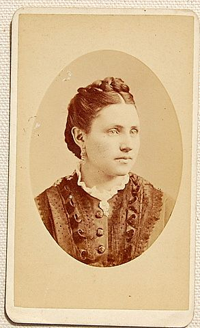 Vintage Cabinet Photo Card Woman