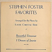 1940 Stephen Foster Favorites Beautiful Dreamer