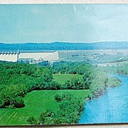 Vintage Ozark Playground Series Table Rock Dam Postcard