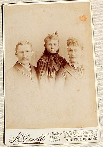 Vintage Cabinet Photo Card Family Photo