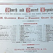 1881 The Church & Concert Organist Sheet Music Book
