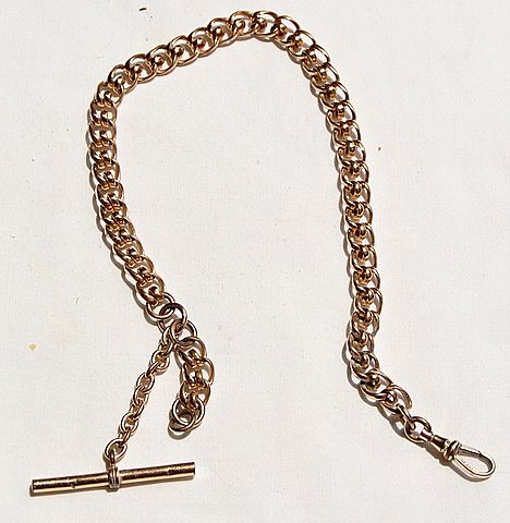 Victorian Heavy Ornate Link Gold Filled Watch Chain