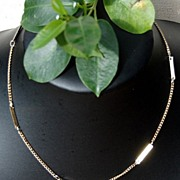 "Vintage Gold Tone Metal 16"" Chain/Necklace"