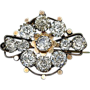 Victorian Gold Tone Metal Paste Brooch