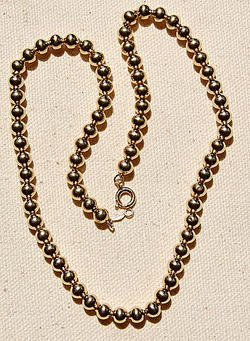 Vintage Gold Filled Bead Necklace