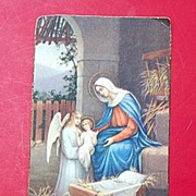 1934 N. G. Basevi Religious Card #788 Christmas Prayer