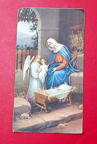 1934 N. G. Basevi Religious Card #788 Christmas Prayer