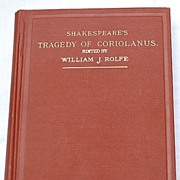 1909 Shakespeare's Tragedy Of Coriolanus