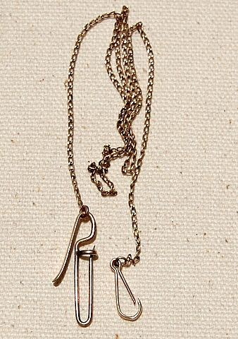 Unusual Gold Filled Pocket Watch Chain Pin