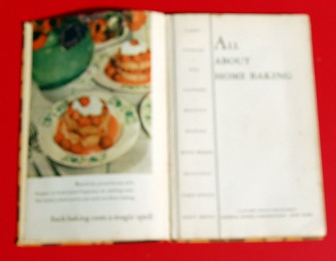 1935 All About Home Baking Advertising Cookbook From General Foods