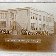 1915 Kinder Louisiana School Building Postcard
