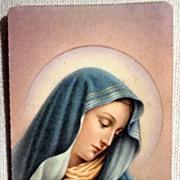 1963 Italian Vintage Prayer Card