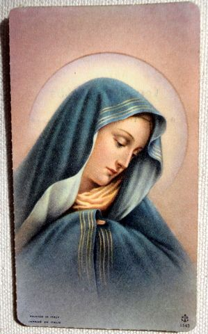 1963 Italian Vintage Prayer Card