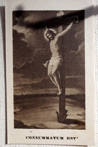 1925 Remembrance Of The Mission Religious Prayer Card