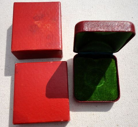 Vintage Red Jewelry Presentation Display Box