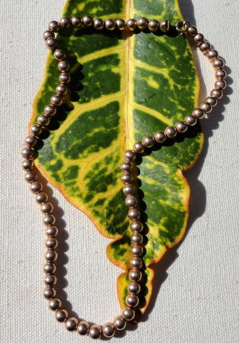 Vintage Gold Filled Bead Necklace