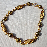 "Vintage Gold Filled Fancy Link 8 1/2"" Bracelet"